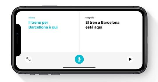 Translator on conversation mode iOS 14
