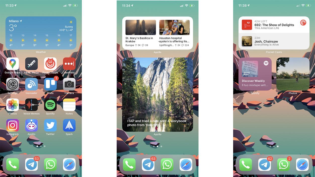 add widget to homescreen iPS14