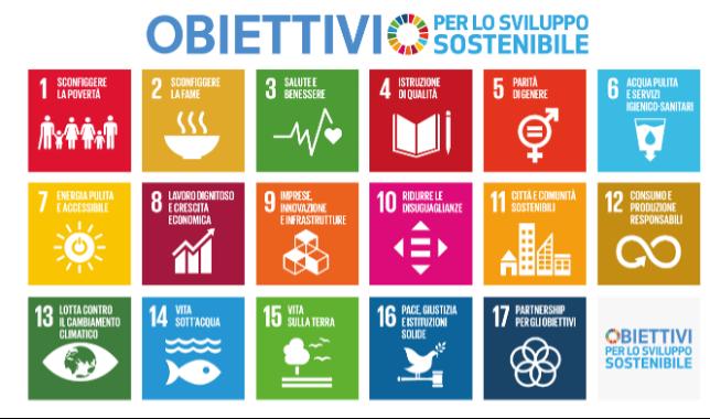 i 17 obiettivi per lo sviluppo sostenibile